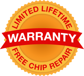 Limited Lifetime Free Chip Repair Warranty